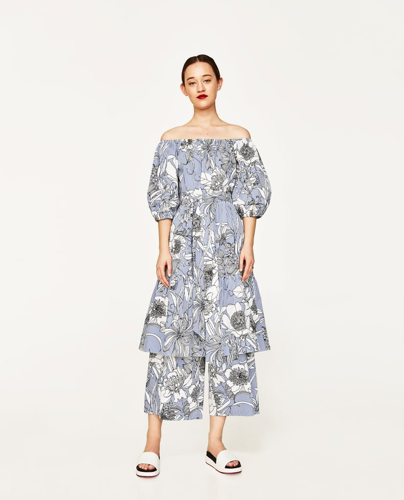 You could easily remove the printed culottes ($50) off from under Zara's coordinating Midi Tunic ($70) if you get too hot.