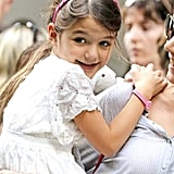 Suri Cruise went to the Museum of Modern Art.