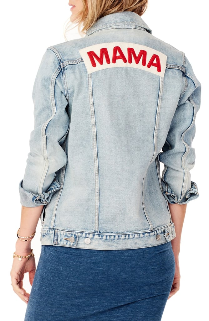 aa5557480ff0d Ingrid & Isabel Mama Denim Maternity Jacket | Mom-Themed Clothes ...