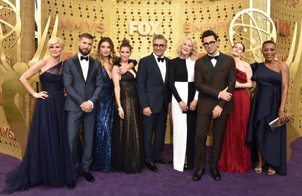 Cast of Schitt's Creek at the 2019 Emmys