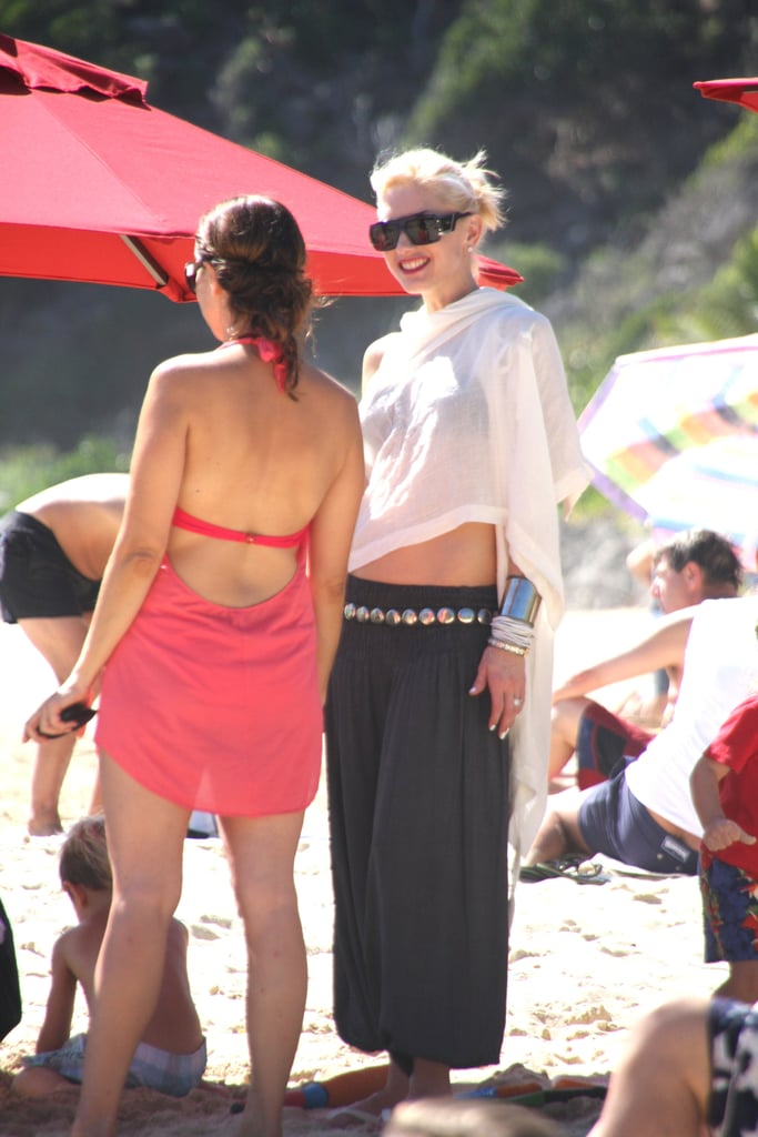 Photos of Gwen Stefani and Gavin Rossdale on the beach in St Bart's