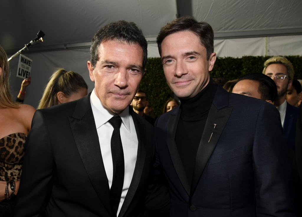Pictured: Antonio Banderas and Topher Grace