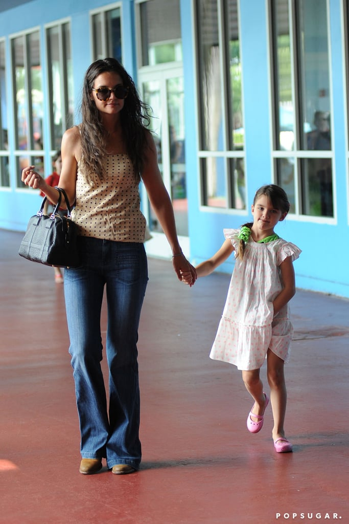 Katie Holmes and Suri Cruise dropped by Chelsea Piers on Monday.