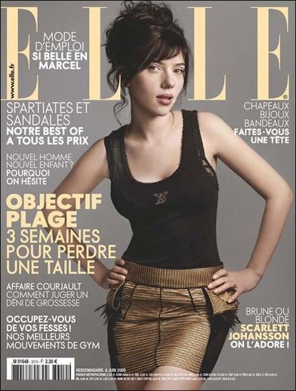 Scarlett Johansson Without Makeup in ELLE
