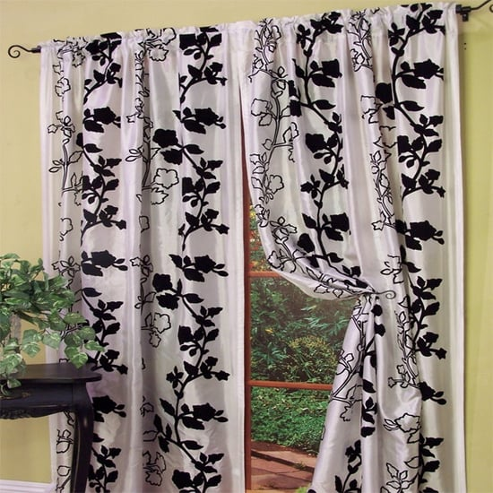 Enchanted Vine Floral Curtain Panel by Kathy Ireland ($30)