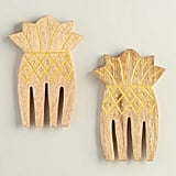 Pineapple Etched Wood Salad Servers ($13)