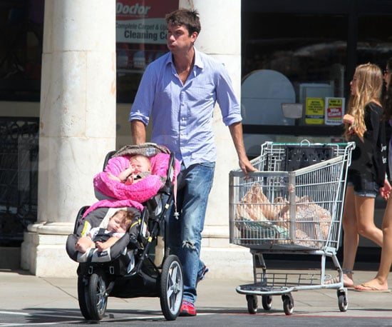 Photo of Jerry O'Connell With Twins Dolly and Charlie in LA