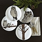 Sweet lovers will get an extra treat with these owl dessert plates ($8).