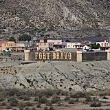 Fort Bravo in the Tabernas Desert of Almeria, Spain