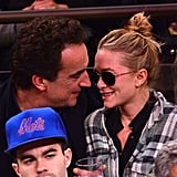 Mary-Kate Olsen got close to her boyfriend, Olivier Sarkozy.