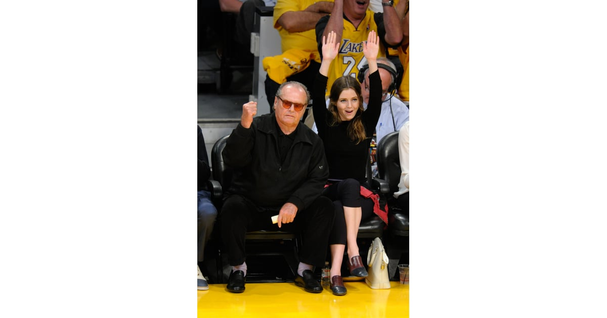 Famous La Lakers Fan Jack Nicholson Was Accompanied By His