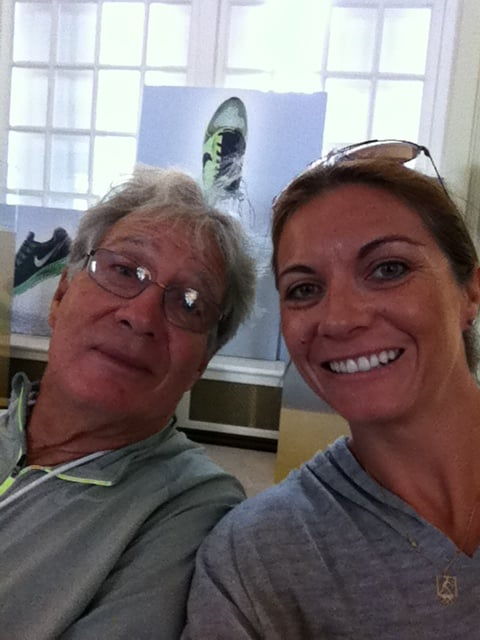 Misty May-Treanor checked out Nike House with her dad.  Source: Twitter user MistyMayTreanor