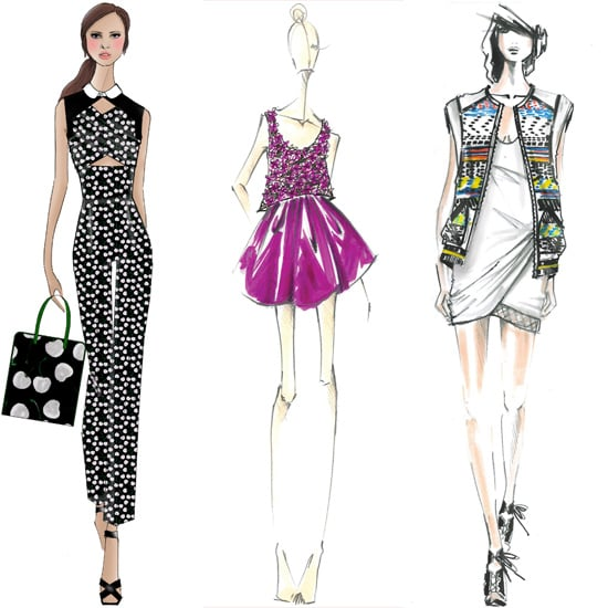 Designer Sketches Spring 2014 | New York Fashion Week | POPSUGAR ...