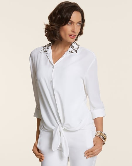 Chico's Embellished Carynn Shirt