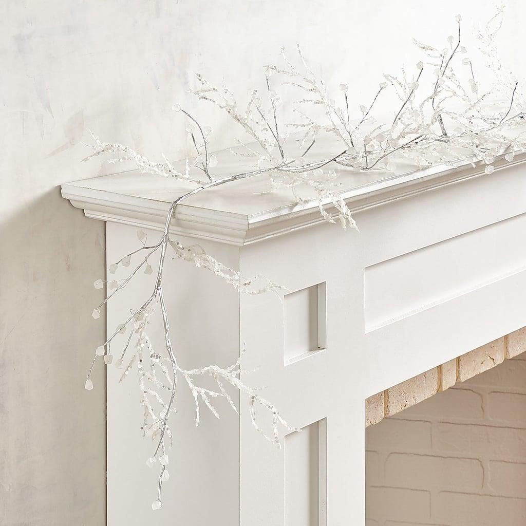 Beaded Icy White Garland