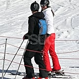 Kate Middleton consulted with a friend while skiing in France.