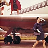 The '60s uniform for British European Airways was crisp and clean.