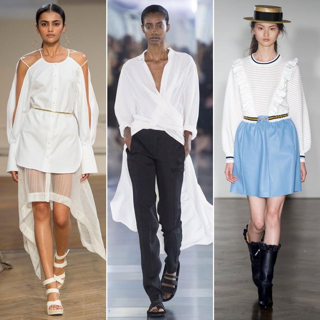 Not Your Boyfriend 39 S White Shirt London Fashion Week Spring 2016 Trend Report Popsugar