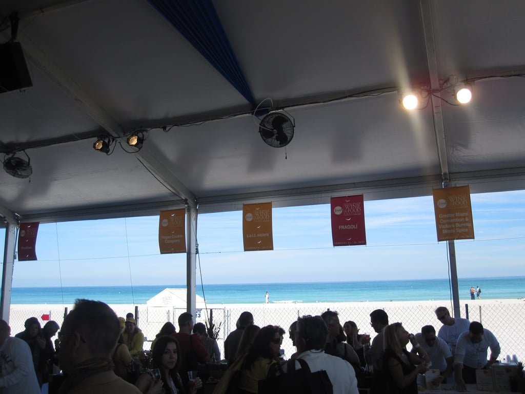 The view from the tasting tents? Not too shabby.