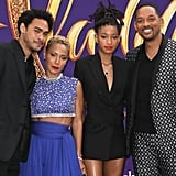 Will Smith and His Family at the Aladdin Premiere 2019