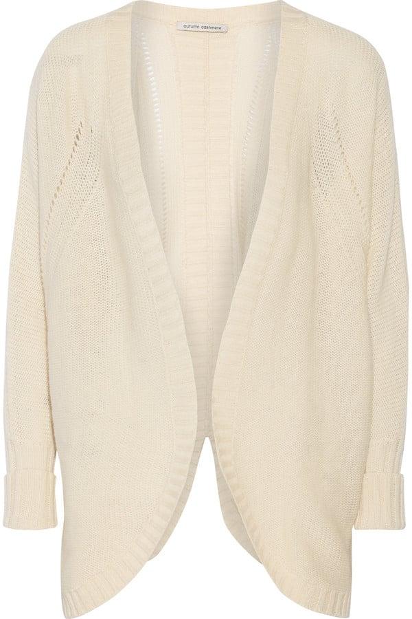 Autumn Cashmere Open-knit cashmere cardigan ($400)