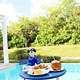 Then I brunched by my private pool.