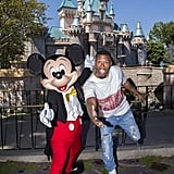 Jamie Foxx got silly with Mickey Mouse during a Disneyland trip in July 2017.