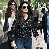 Penelope Cruz Steps Out to Shop at Zara in Spain