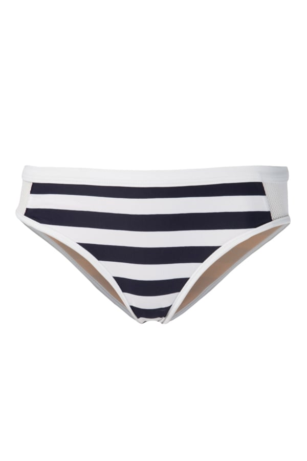 Solid-Colored Triangle Top + Striped Bottom