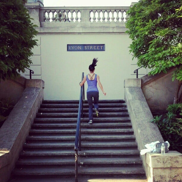 This gal made like a local by running up the Lyon Street steps — all 288! — during a trip to San Francisco.  Source: Instagram user lorihost