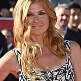Connie Britton wore her hair in loose waves.