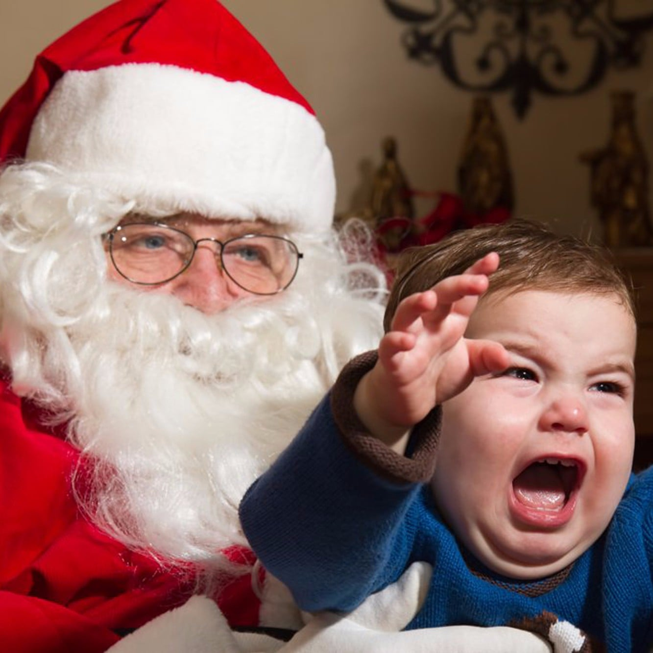 kids scared of santa popsugar moms - Santa Claus Children