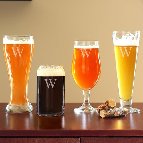 Personalized 4-Piece Specialty Beer Glass Set