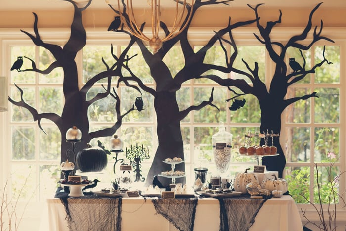 A Spooky Yet Elegant Halloween Forest Party 15 Party