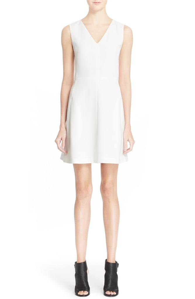 Vince Sleeveless V-Neck Fit & Flare Dress ($365)