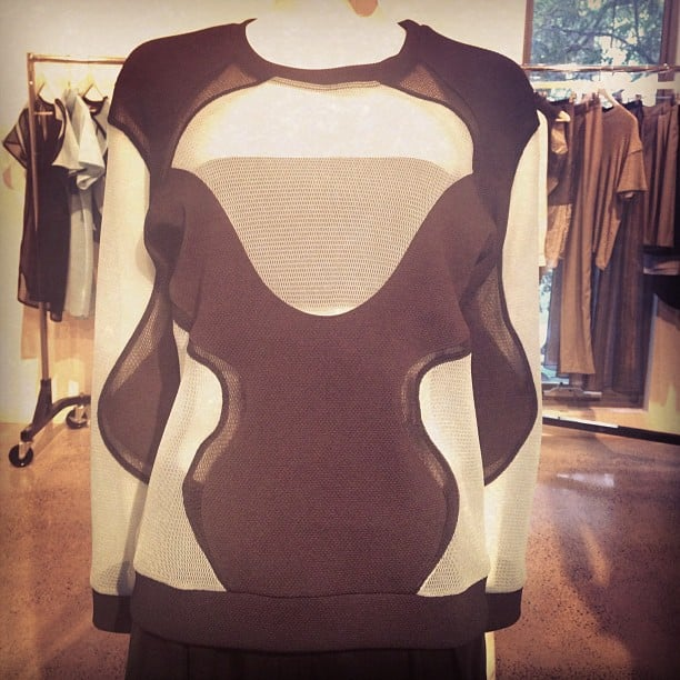 This Michael Lo Sordo S/S jumper is made of fabric that's both UV protective and fire resistant. Clever little thing.