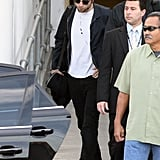 Robert Pattinson wore a black hat and sunglasses in Sydney.