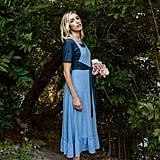 Mien Studios Fine Day Pinafore Dress in Sky Blue