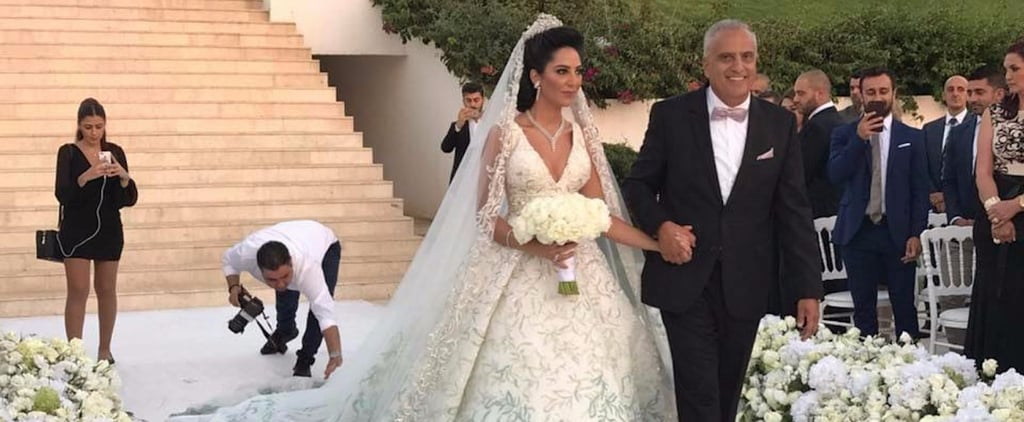 This Lebanese Bride Wore the Most Enchanting Gown to Her Forest Fairy-Tale Wedding