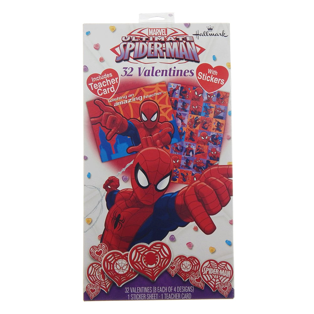 Hallmark Valentine Boxed Spiderman Greeting Cards