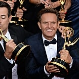 Carson Daly gave his Emmy a kiss when The Voice won for outstanding reality competition program.
