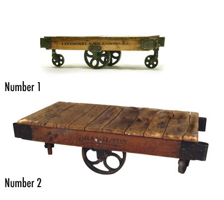 Less or More: Industrial Cart Tables