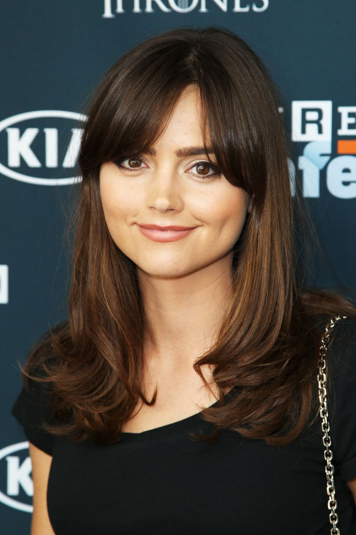 Jenna Louise Coleman Celebrity Fringe Hairstyles For