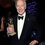 Christopher Plummer showed off his statue.