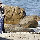 Gavin Rossdale and Gwen Stefani watched the boys on the beach on Memorial Day in LA.