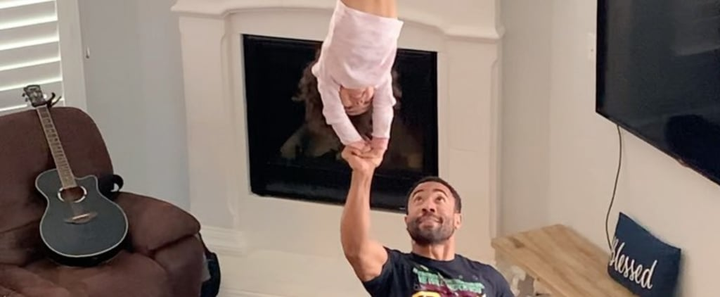 Dad's Cheer Routines With 4-Year-Old Daughter | Videos