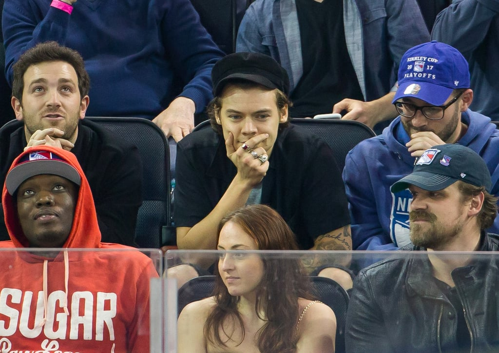 Harry Styles at New York Rangers Game April 2017