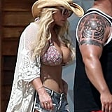 Jessica Brought Back Her Famous Daisy Duke Shorts For Vacation