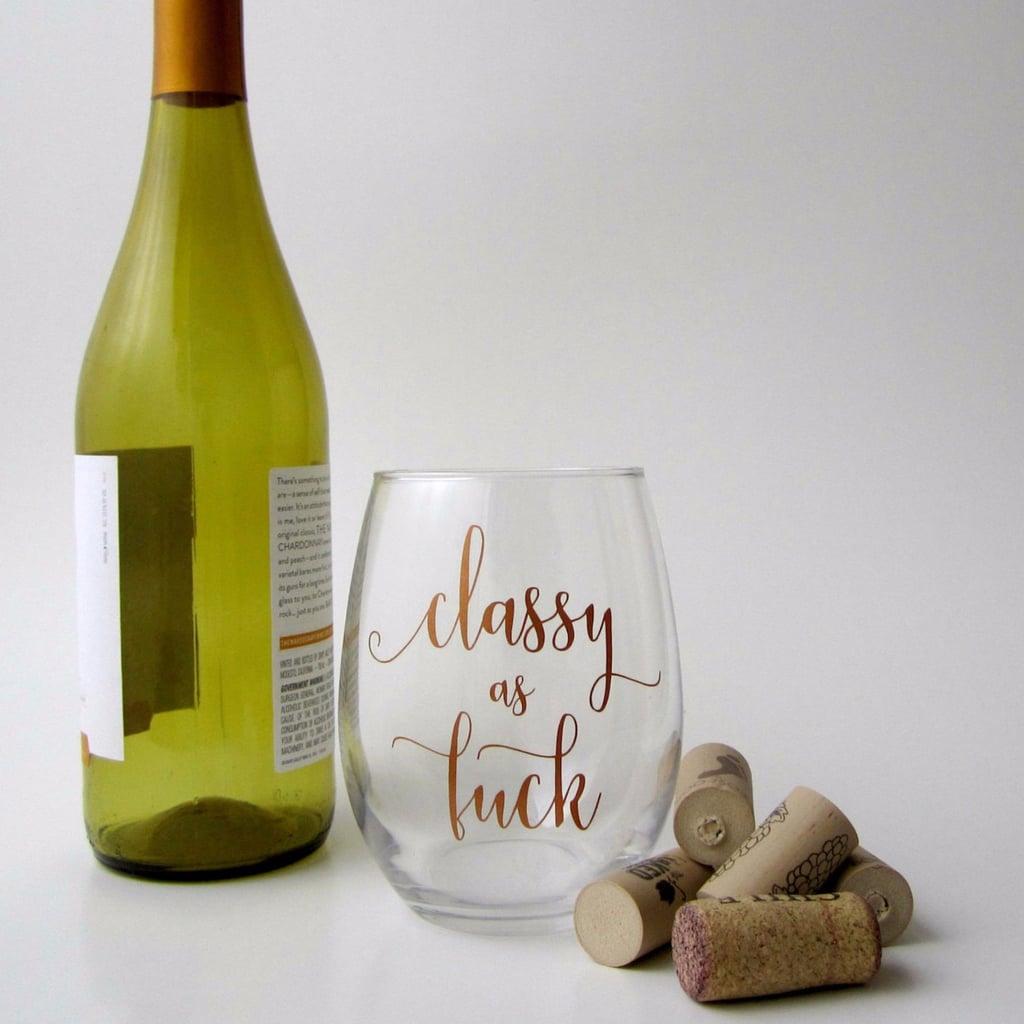 Curse-Word Wine Glasses