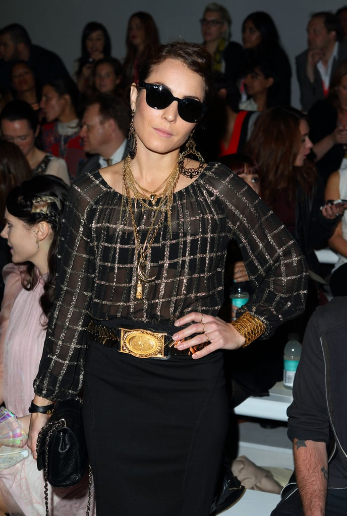 Noomi Rapace went to the Mark Fast LFW show.
